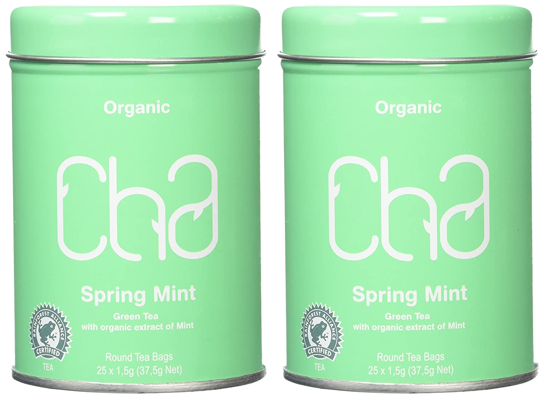 5594c2c3838 Cha Tea Organic Spring Mint (Pack of 2): Amazon.co.uk: Grocery