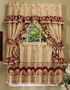 Achim Home Furnishings Sunflower Cottage Set 24-inch Antique
