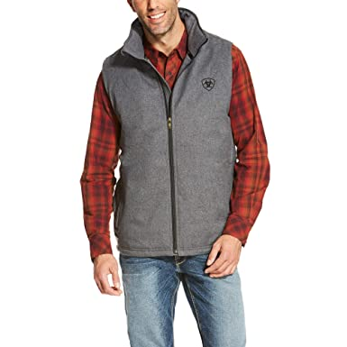 067a107f24 ARIAT Men s Team Logo Vest Charcoal Heather Size Large at Amazon Men s  Clothing store