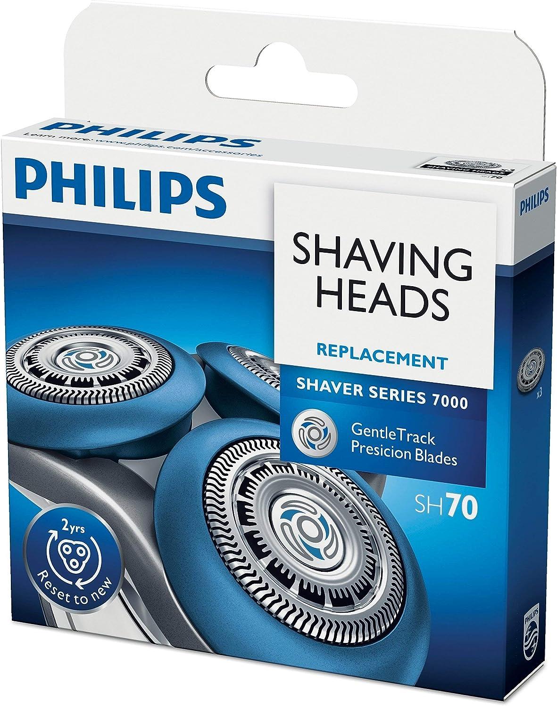 Philips SHAVER Series 7000 SH70/51 accesorio para maquina de afeitar - Accesorio para máquina de afeitar (3 cabezal(es), Aluminio, Philips 7000 (S7xxx)): Amazon.es: Hogar
