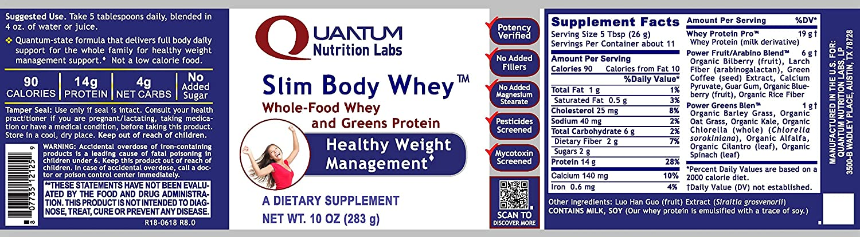 Amazon.com: Quantum slim-body Whey, 12oz Canister ...