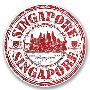 amazon com 2 x singapore luggage travel stickers everything else