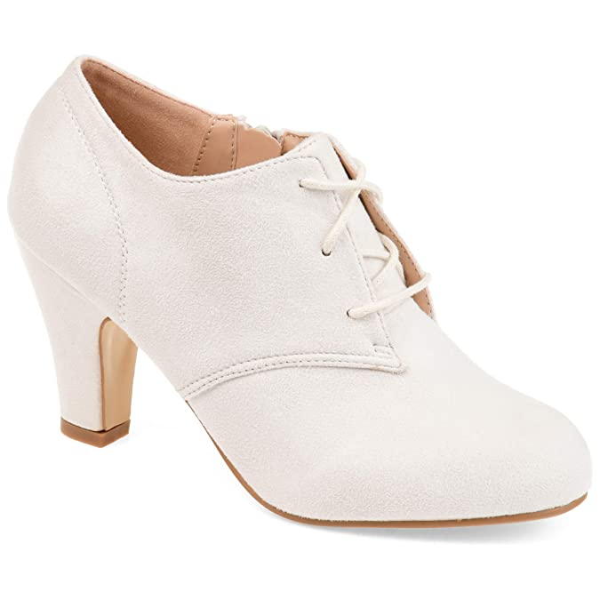 Vintage Heels, Retro Heels, Pumps, Shoes Journee Collection Womens Vintage Round Toe Lace-up Booties $59.99 AT vintagedancer.com