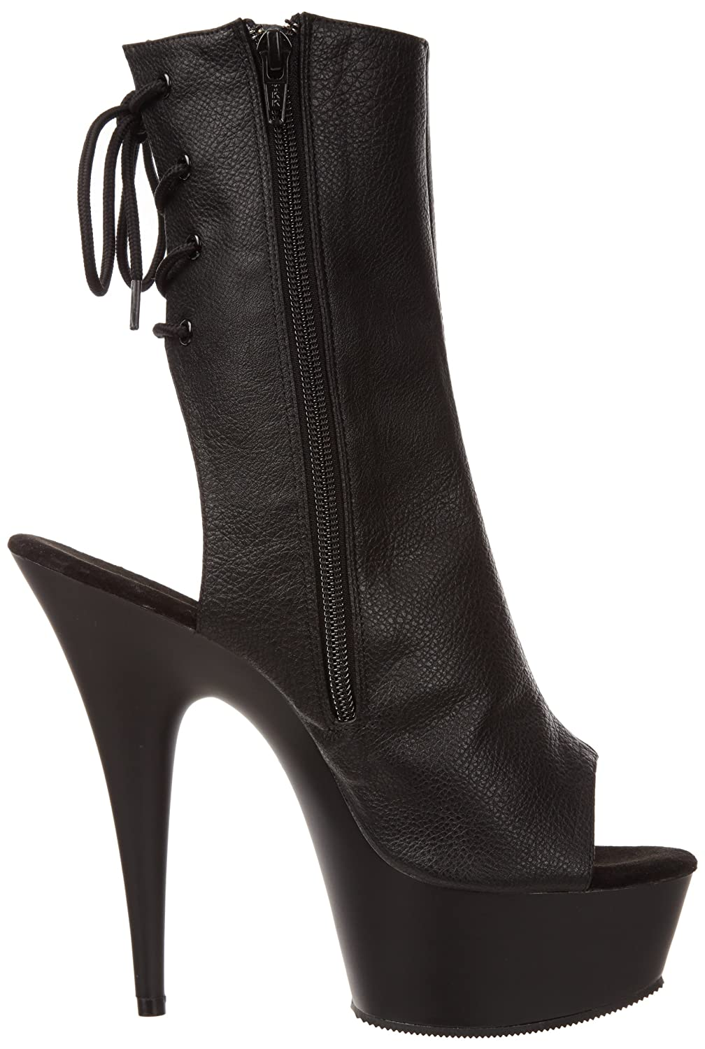 Pleaser Women's Delight-1018 Boot B003D0VGZM 14 B(M) US|Black Polyurethane/Black