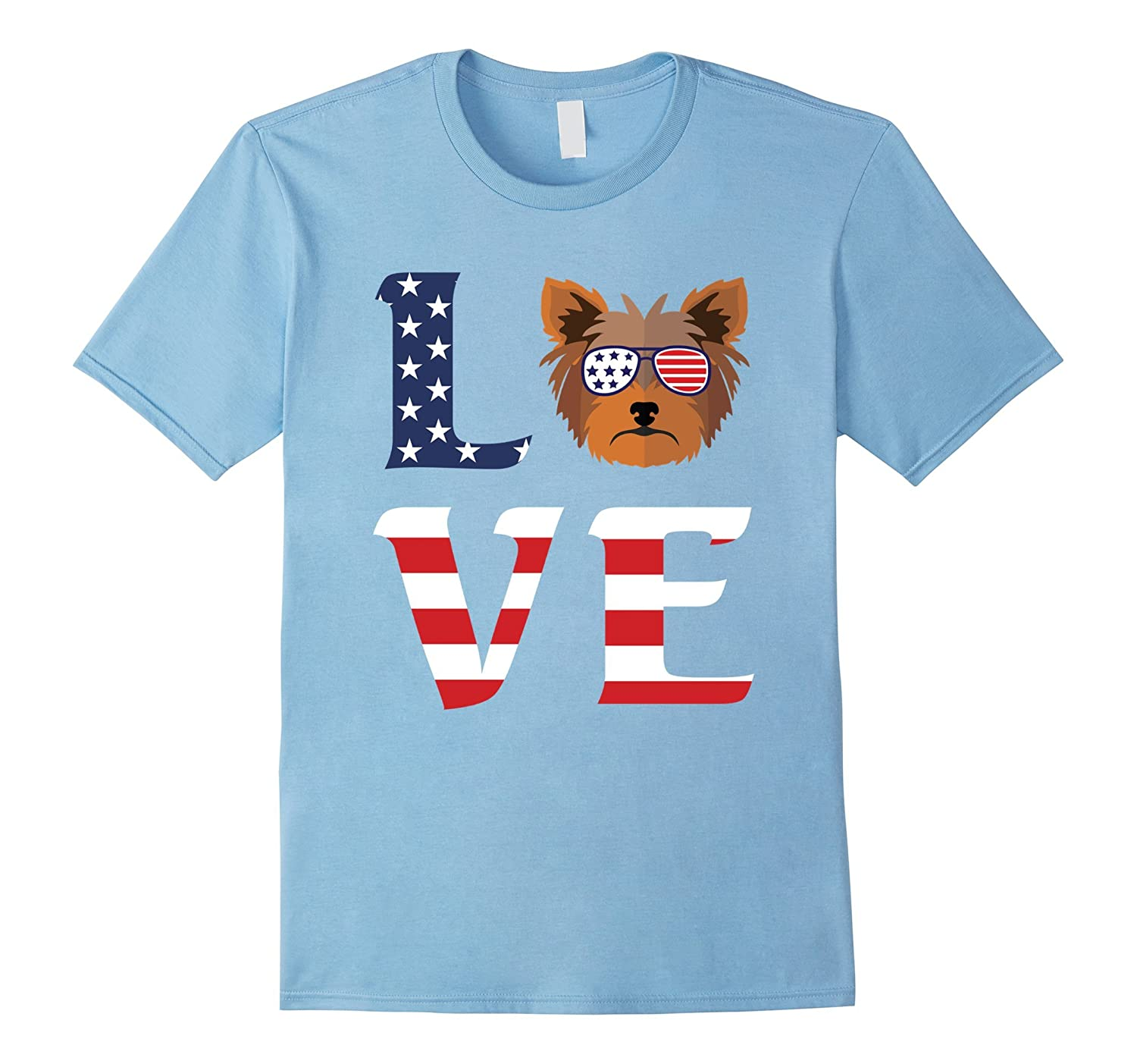 Yorkshire Terrier Dog Love Independence Day 04 July 17 Shirt-TH