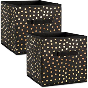 DII Fabric Storage Bins for Nursery, Offices, & Home Organization, Containers Are Made To Fit Standard Cube Organizers (13x13x13