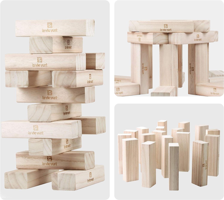 Lavievert Gigante derrocamiento Timbers Bloques de Madera Juego de Bloques de amontonamiento de apilamiento Torre: Amazon.es: Juguetes y juegos