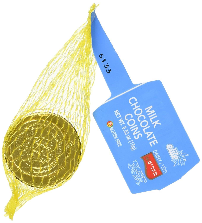 Amazon.com : Elite Milk Chocolate Gold Coins Box of 24 Mesh Bags ...