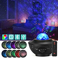 Star Projector Night Light, Adjustable Starry Projector with 21 Lighting Modes with Remote control& Built-in Music…