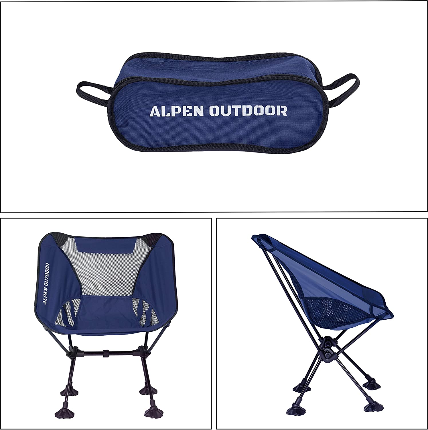 Genric Alpen Outdoor Ultralight Portable Camping Chair Compact /& Heavy Duty with Carry Bag Foldable Backpacking Chair for Outdoor Hiking Picnic Beach and Festival