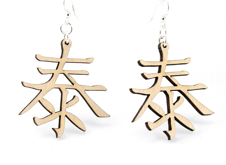 Peace Earrings Kanji