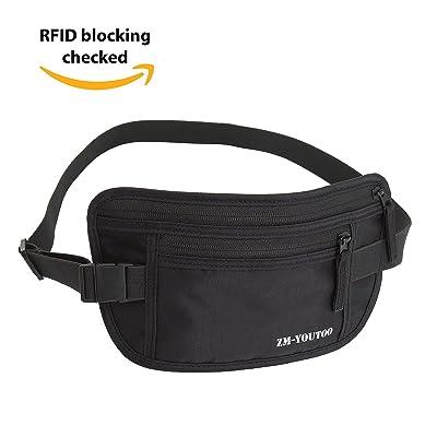 52d5f10cccde Travel Money Belt Rfid Blocking Hidden Waist Wallet Security ...