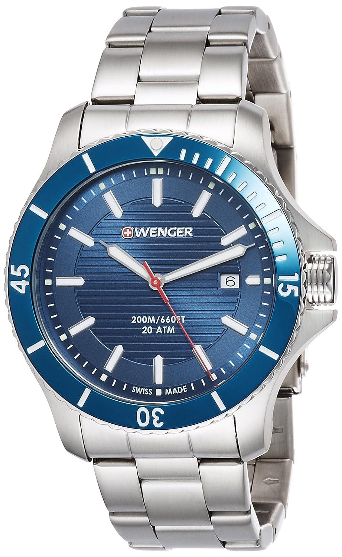WEGNER Unisex-Armbanduhr 01.0643.120 WENGER SEAFORCE Analog Quarz Edelstahl 01.0643.120 WENGER SEAFORCE