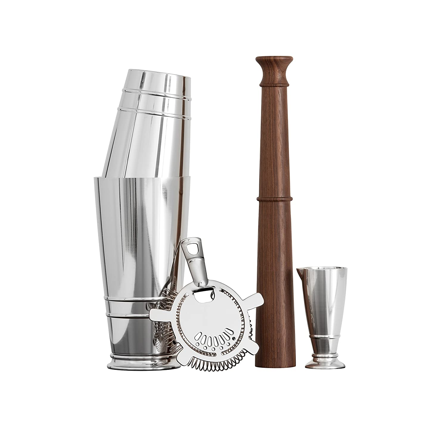 Silver CRFTHS.MIXINGST Mixing Gift Set Crafthouse by Fortessa Professional Barware//Bar Tools by Charles Joly