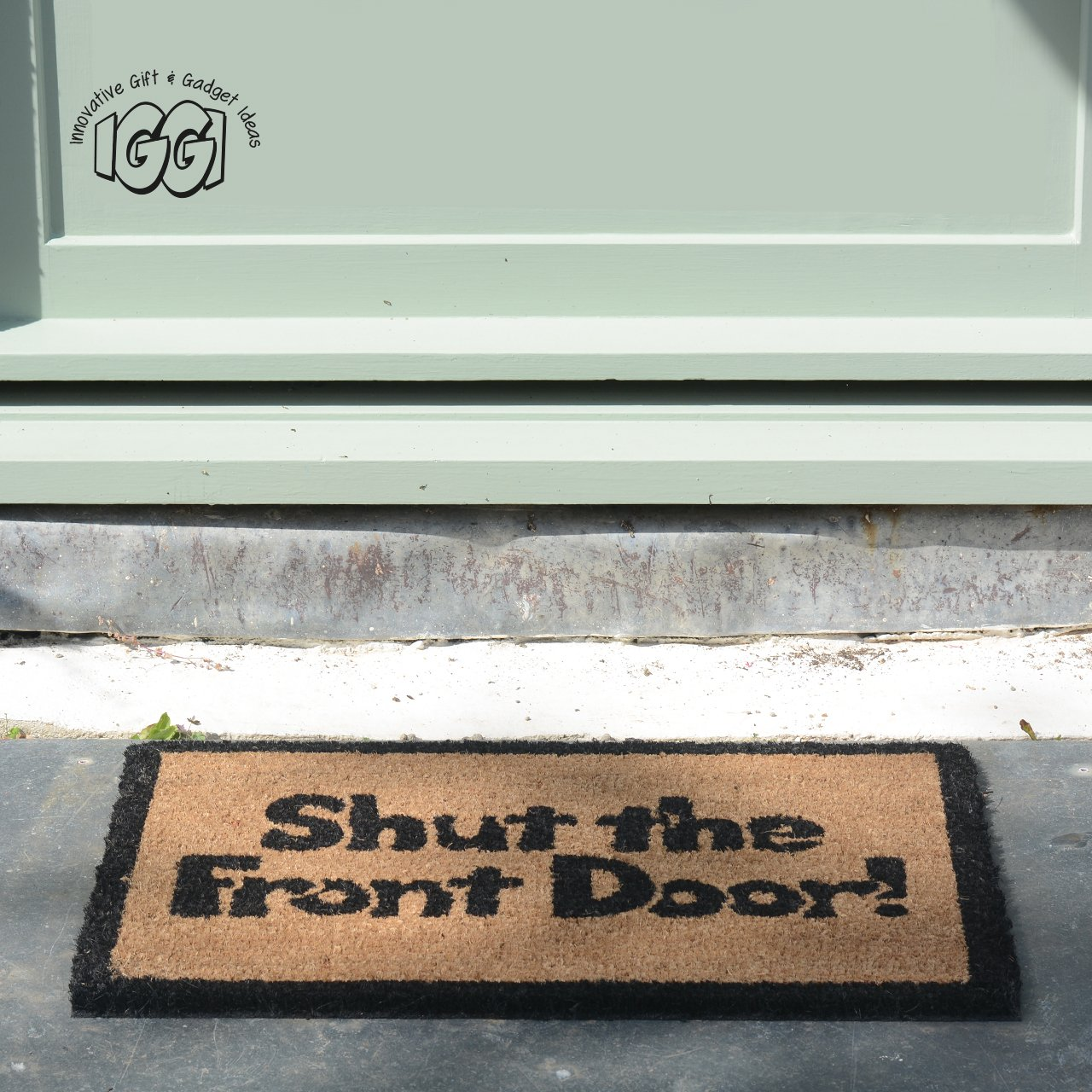 "Where Did Shut The Front Door Come From: ""Shut The Front Door"" Mat Novelty Outdoor Indoor Doormat"