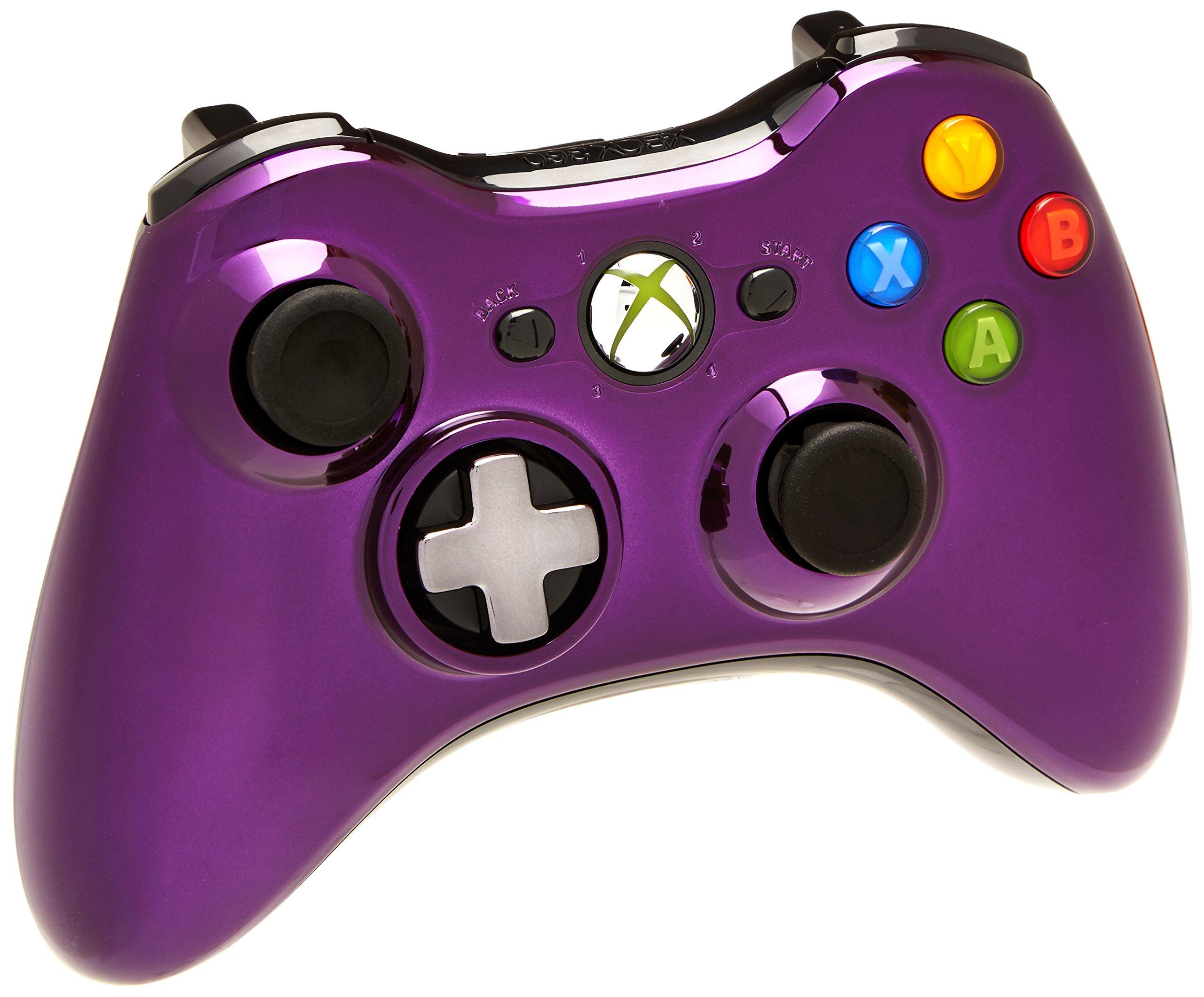 Microsoft Xbox 360 Chrome Series Wireless Controller (Purple)