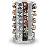 Simpli-Magic Revolving 20-Jar Countertop Spice Rack, Stainless Steel