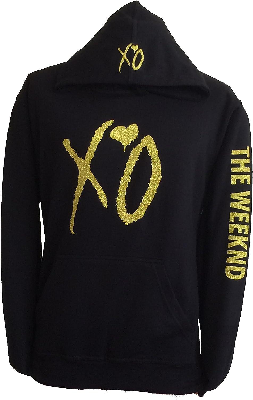 XO the weekend hoodie hooded sweatshirt Gold glitter design sweatshirt