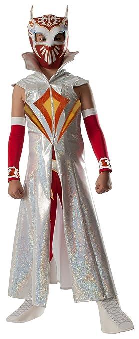 Amazon.com: Rubies WWE Deluxe Sin Cara Costume, Child Medium: Toys ...