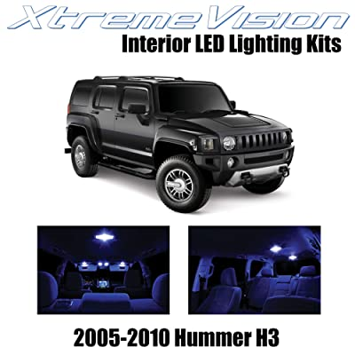 Xtremevision Interior LED for Hummer H3 2005-2010 (15 Pieces) Blue Interior LED Kit + Installation Tool: Automotive