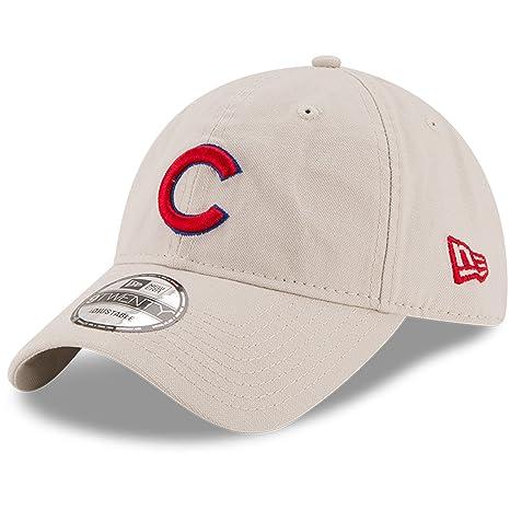 c08c23130585f Amazon.com   Chicago Cubs New Era Core Classic 9TWENTY Adjustable ...