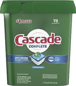 Cascade Complete Dishwasher-Pods, ActionPacs Dishwasher Detergent Tabs