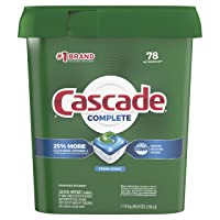 CASCADE Fresh Scent, 78 Count (Packaging May Vary)