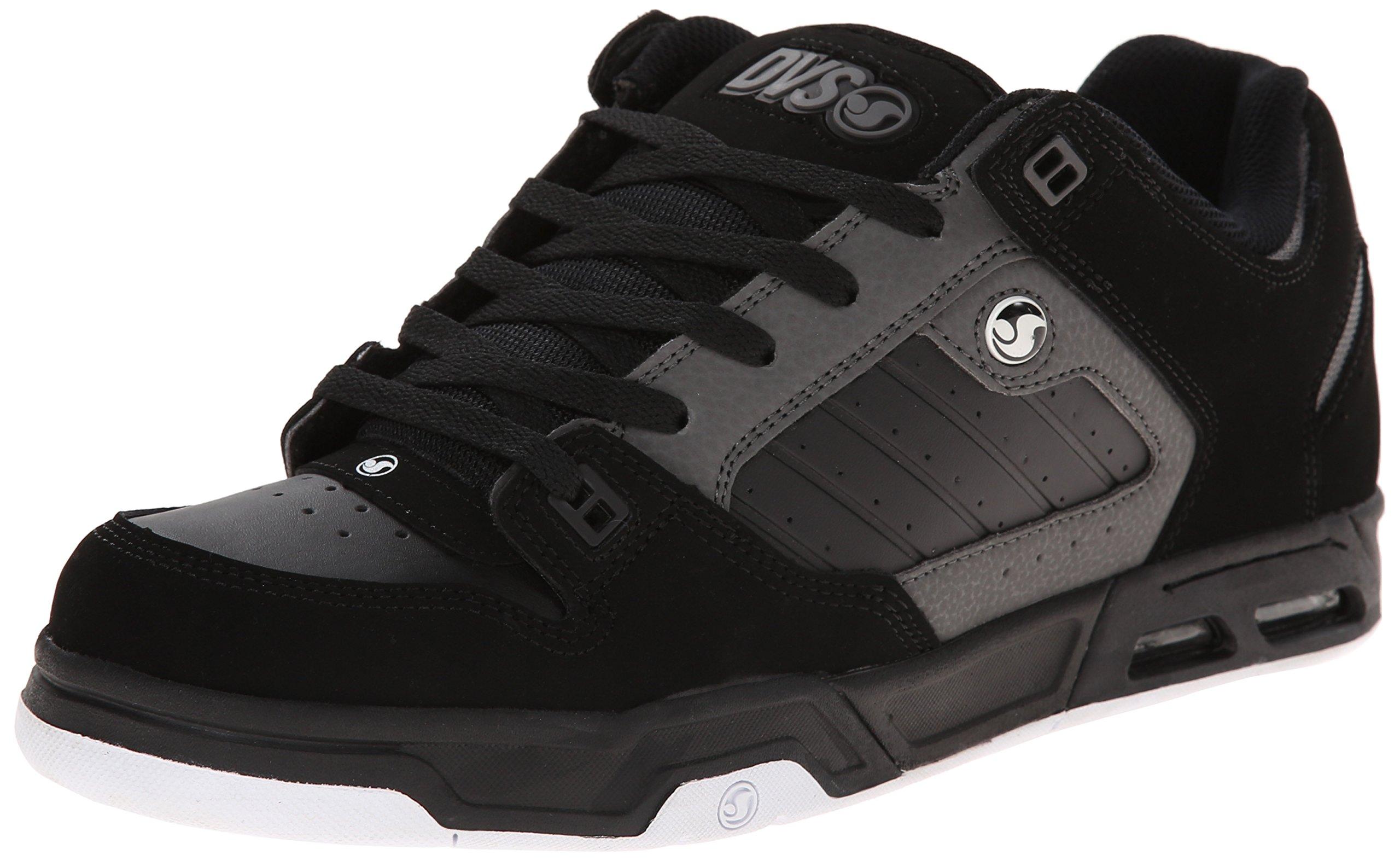 DVS Men's Militia Heir Skateboarding Shoe, Black/Grey Nubuck, 11 M US