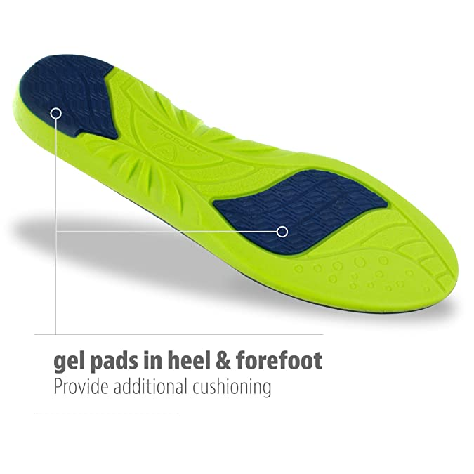 best sneakers 8b97d 49a13 Amazon.com  Sof Sole Insoles Men s ATHLETE Performance Full-Length Gel Shoe  Insert  Shoes