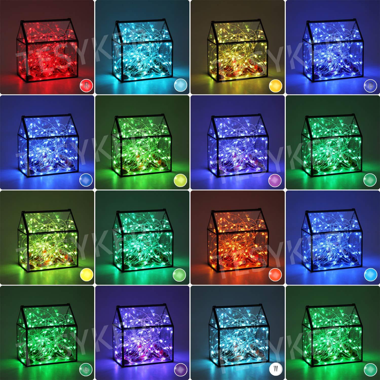 Tesyker Fairy Lights Plug In String Lights For Bedroom