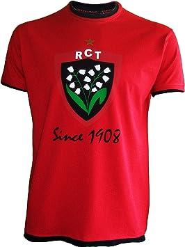 Rugby Club Toulonnais Top 14 - Camiseta manga corta oficial para niños rojo rojo Talla:6 años (116 cm): Amazon.es: Ropa y accesorios