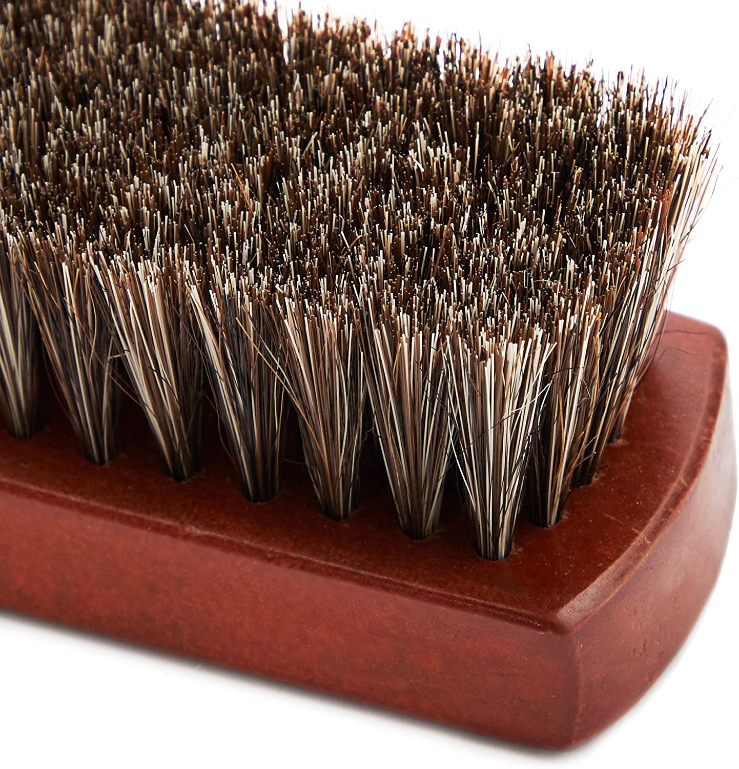 Horsehair Shoe Brush 7 x 1.9 x 1.75 Inches, Brown