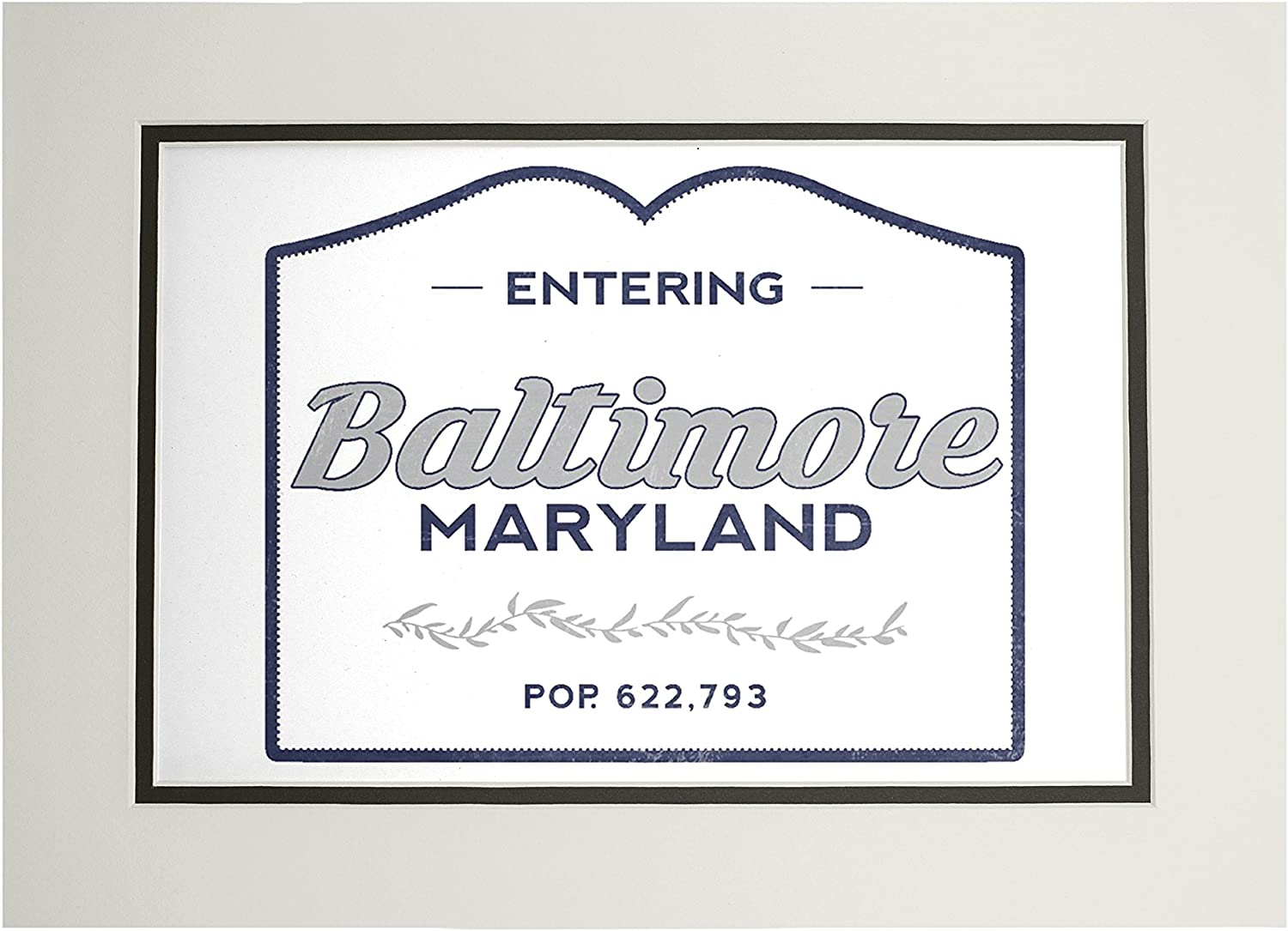 66720 Blue Baltimore 16x24 SIGNED Print Master Art Print - Wall Decor Poster Maryland Now Entering