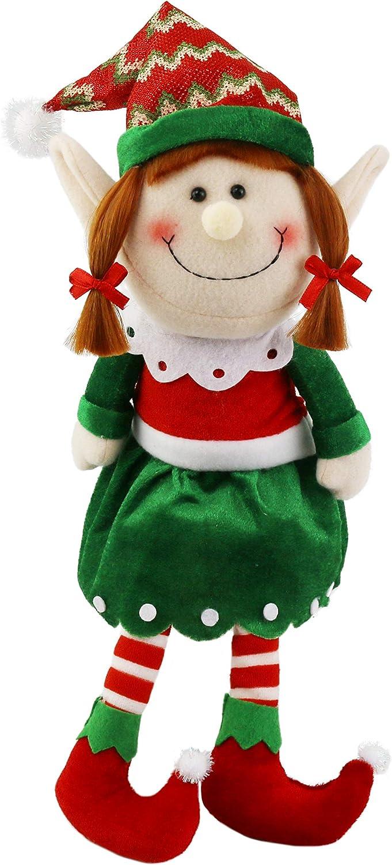 Christmas Helper Elf Style Black Plush Doll Boy Girl Figure Novelty Xmas Kid