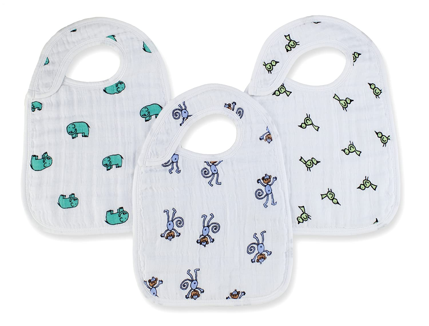 Aden + Anais 3 Pack Nibble Snap Bibs jungle jam 7102