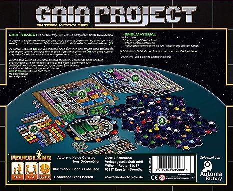 Feuerland Spiele Gaia Project 13 - Juego de Mesa: Amazon.es: Juguetes y juegos