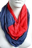 Rotblau: Schlauchschal für Damen und Herren in blau & rot aus Jersey