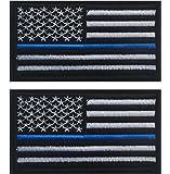 TACVASEN Bundle 2 pieces-Tactical Police law enforcement Thin Blue Line United States Flag Patch