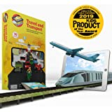 Aurodo Multi-Award Winning STEM Learning Game for Boys and Girls Age 3 to 10   Learn 70 Vehicles and Machines with Augmented Reality & 200+ STEM Activities – 2019 Kids Product of the year Award Winner
