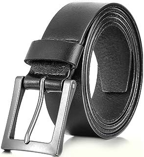 Amazon.com: queyub hombre vestido cinturones piel auténtica ...
