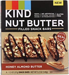 product image for KIND Breakfast Filled Bar, Honey Almond Butter, 1.3 Ounce (Pack of 4)