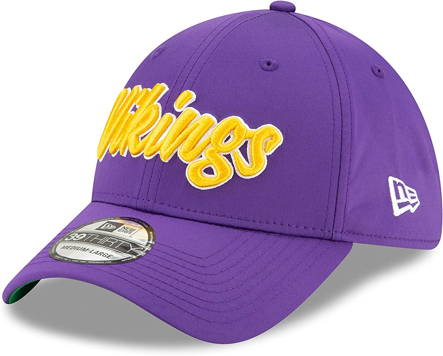 New Era Men's Minnesota Vikings Cap Hat Sideline Home NFL Football 100 Season