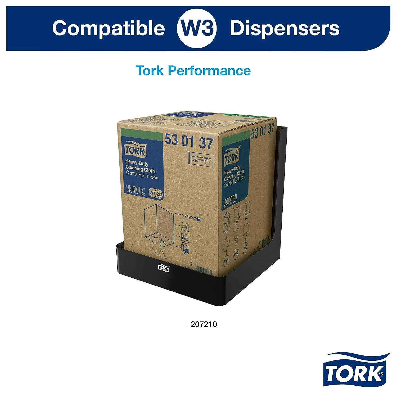 Tork Premium Cloth non-woven530,combi roll,W1//W2//W3 white 280 sheets//roll