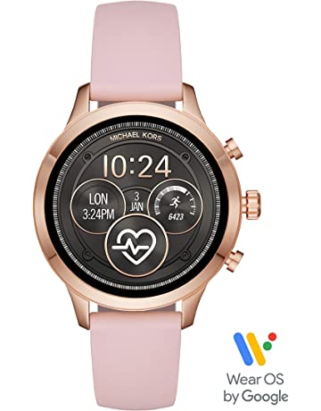 1cb83f494 Michael Kors Women's Access Runway Stainless Steel Silicone Smart Watch,  Color: Rose gold-
