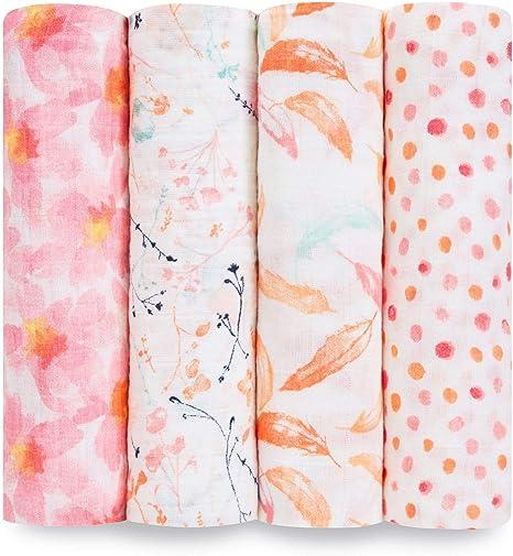 Aden + Anais Petal Blooms - Pack 4 muselinas: Amazon.es: Bebé