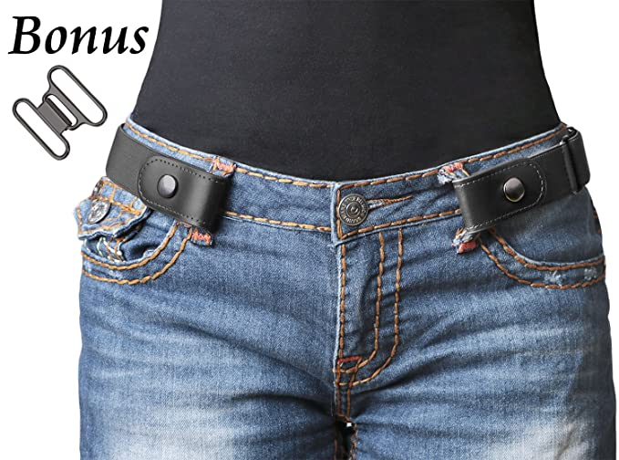 No Buckle Womenmen Stretch Belt Elastic Waist Belt Up To 48 For