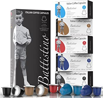100Pk. Battistino Nespresso Compatible Coffee Capsules