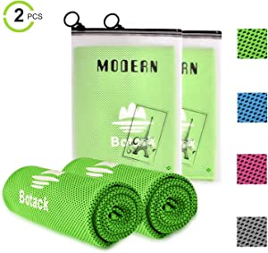 Botack Ice Cooling Towel Microfiber Soft Breathable Chilly Towel for Work Out Running Yoga Golf Gym 2 4 Pack