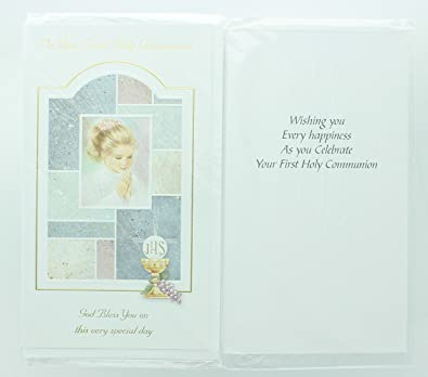 Amazon ra001 girls first holy communion greeting card includes ra001 girls first holy communion greeting card includes envelope m4hsunfo
