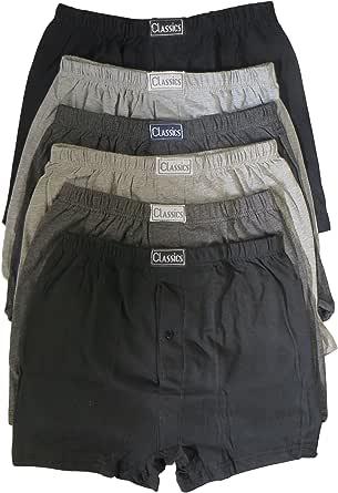 Sockstack 6 pares de calzoncillos para hombre, calzoncillos clásicos de algodón